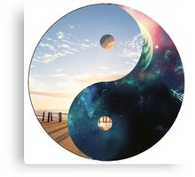 Yin Yang Earth and Space Canvas Print