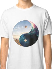 Yin Yang Earth and Space Classic T-Shirt