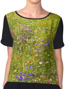 A field of wild flowers Chiffon Top