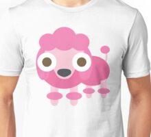 Pink Poodle Dog Emoji Shocked and Surprised Look Unisex T-Shirt