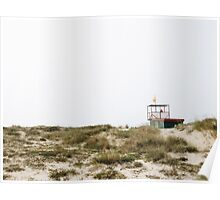 Lifeguard post in a beach. Poster