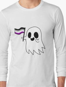 Asexual Pride Ghost Long Sleeve T-Shirt