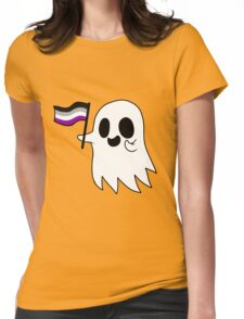 Asexual Pride Ghost Womens Fitted T-Shirt