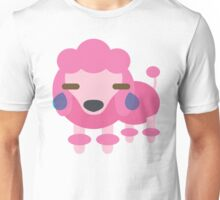 Pink Poodle Dog Emoji Teary Eyes and Sad Look Unisex T-Shirt