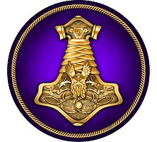 Norse Thor's Hammer - Purple Photographic Print
