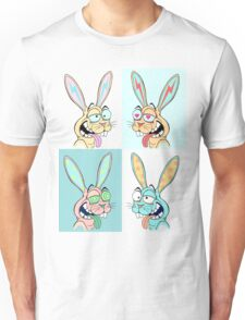 Happy Rabbits In A Group Unisex T-Shirt