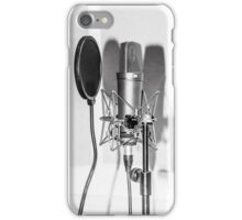 Microphone , sound recording equipment for singing iPhone Case/Skin