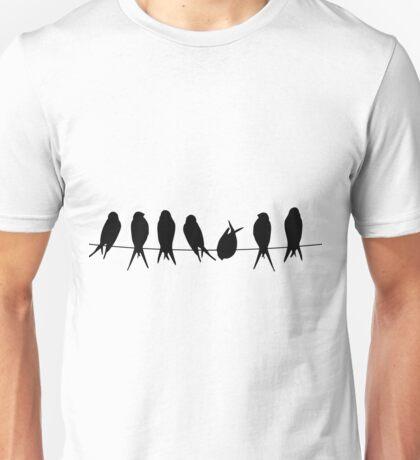 Birds on wire Unisex T-Shirt