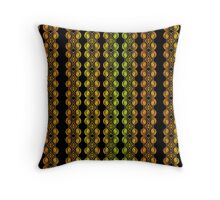 Colorful shell patterns Throw Pillow