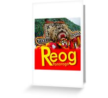 REOG DANCE Greeting Card