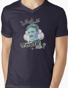 What would Tesla Do? Mens V-Neck T-Shirt