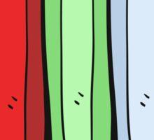 cartoon color pencils Sticker