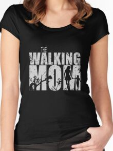 The Walking Mom Cool TV Shower Fans Design Women's Fitted Scoop T-Shirt