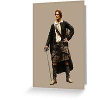 Outlander - Jamie Fraser Greeting Card