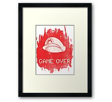 Game Over Mario Framed Print