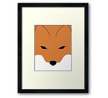 The face of the fox Framed Print
