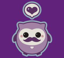 Cute Mustache Owl by sugarhai