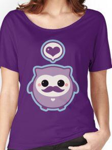 Cute Mustache Owl Women's Relaxed Fit T-Shirt