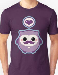 Cute Mustache Owl Unisex T-Shirt