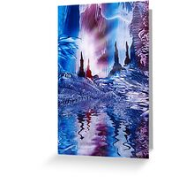 Cavern of Castles painting in wax Greeting Card