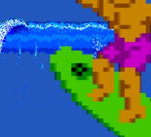 CALIFORNIA GAMES - SURFING - MASTER SYSTEM Sticker