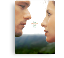 "Outlander - Jamie x Claire ""Love's stronger than time"" Canvas Print"