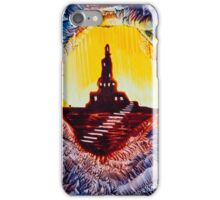 Castle rock silhouette painting in wax iPhone Case/Skin