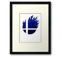 Super Smash Bros. Logo - Blue EVO Style Framed Print