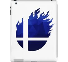 Super Smash Bros. Logo - Blue EVO Style iPad Case/Skin