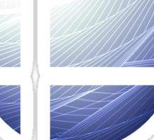 Super Smash Bros. Logo - White Sticker