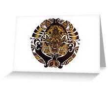 Golden Pendant  Greeting Card