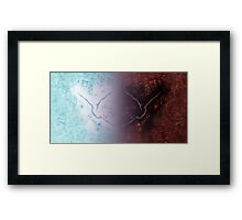 Abstract Fire And Ice Inversion Painting Framed Print
