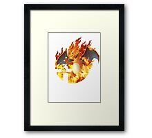 Smash Charizard Framed Print