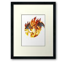 Smash Charizard Framed Print