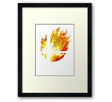 Super Smash Bros. Logo - Fire Framed Print