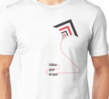 follow your dreams typography kite Unisex T-Shirt
