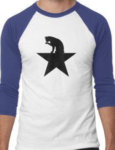 Hamilcat Black Cat Design for Alexander Hamilton fans Men's Baseball ¾ T-Shirt