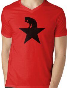 Hamilcat Black Cat Design for Alexander Hamilton fans Mens V-Neck T-Shirt