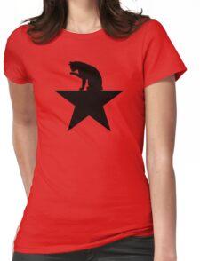 Hamilcat Black Cat Design for Alexander Hamilton fans Womens Fitted T-Shirt