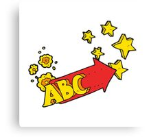 cartoon ABC symbol Canvas Print