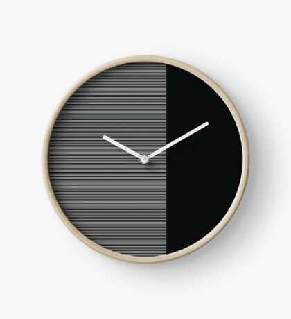 Black and white seamless geometric background Clock