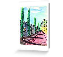 Cypress drive  Greeting Card
