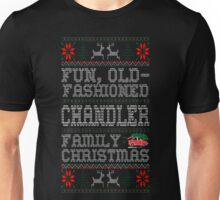 Fun Old Fashioned Chandler Family Christmas Ugly T-Shirt Unisex T-Shirt