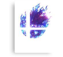 Super Smash Bros. Logo - Blue Canvas Print