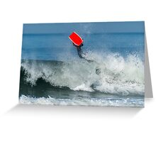 Bodyboarder in action Greeting Card