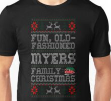 Fun Old Fashioned Myers Family Christmas Ugly T-Shirt Unisex T-Shirt