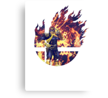 Smash Captain Falcon (Brawl) Canvas Print