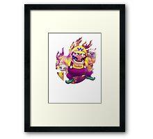 Smash Wario Framed Print
