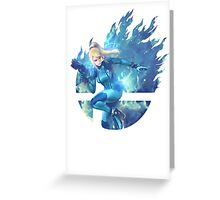Smash Zero Suit Samus Greeting Card