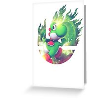 Smash Yoshi Greeting Card